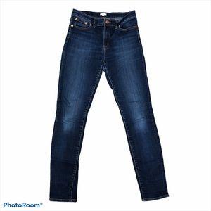 J.Crew dark wash high rise skinny jeans size 27